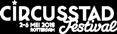 Circusstad 2018 logo wit