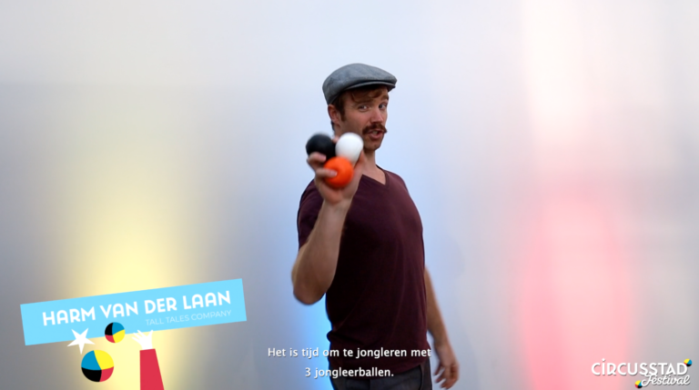 Voor in de vakantie: leer jongleren met Harm!